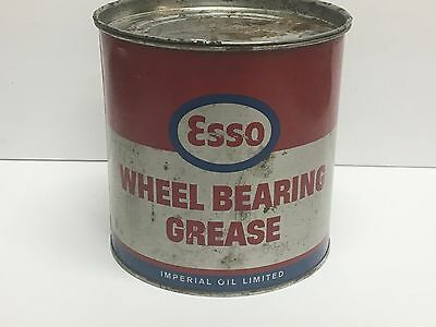 vintage 5 pound ESSO Wheel Bearing Grease Oil Can advertising tin