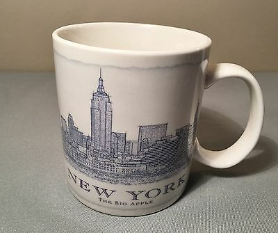 Starbucks Coffee Mug 2010 New York Big Apple Architecture Series 18 oz.