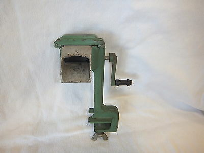 Vintage Conco Hand Cranked Green Iron Pea Bean Sheller