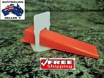 Tile leveling System PROFESSIONAL 400 Clips + 200 Wedges Only, Levelling Spacer