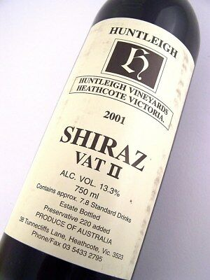 2001 HUNTLEIGH Vineyards Shiraz Vat II Isle of Wine