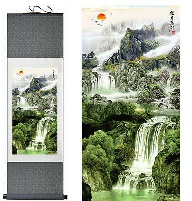 """landscape art painting landscape painting for living room office 12""""x40"""""""