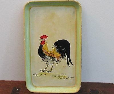 Vintage Toleware Tray French Country Flair All Hand Painted Kitchen Collectible