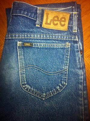 VINTAGE LEE 32 x 36 RIDERS REG. FIT STRAIGHT LEG MEN'S JEANS UNION MADE IN USA