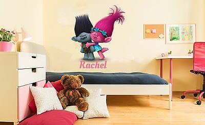 Custom Name Trolls Poppy Wall Decal Kids for Home Bedroom