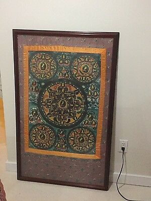 Antique thanka, Framed, Large, Beautiful Energy, Perfeçt Condition Pick Up Only