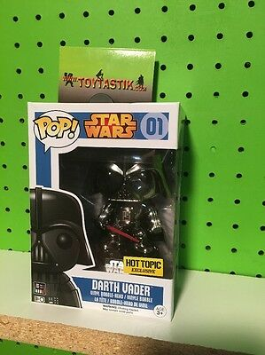 Funko Pop Vinyl Star Wars Darth Vader Chrome Hot Topic Exclusive