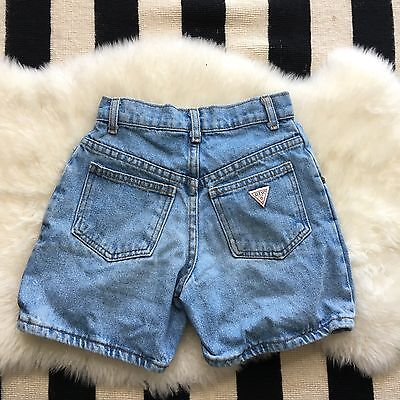 Guess Baby Vintage Denim Shorts 100% Cotton Made In USA Size 7Y