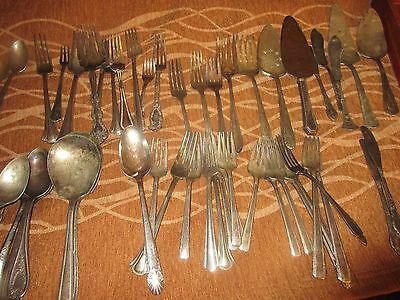 silverplate flatware mixed lot of 125 pieces includes 32 piece set of Nobility