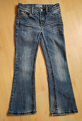 Cherokee Girls Jeans Denim Pants Adj Waistband Blue sz 6