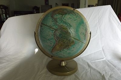 Vintage World Globe World Ocean Series Double Sphere Replogle 12'' Raised