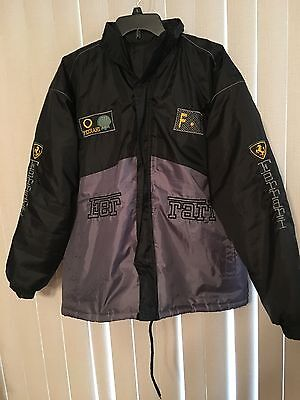Ferrari jacket with fold-out hood; sports car, racing, Italy