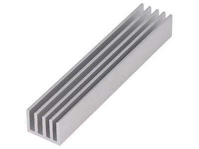 SK633/100/AL Heatsink extruded grilled natural L100mm W19mm H14mm SK633100AL