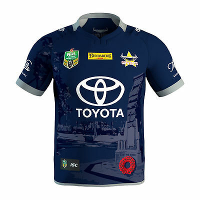 North Queensland Cowboys 2017 NRL ANZAC DEFENCE Jersey Adult & Kids Sizes!