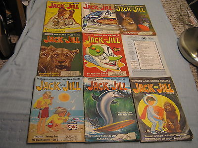 Lot Of 9 Vintage Jack And Jill Magazine 1967