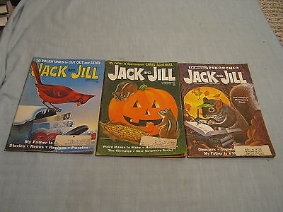Lot Of 3 Vintage Jack And Jill Magazine 1968