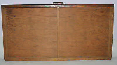 Vintage Printer's Type Tray/Drawer Shadow Box, full size case two compartment