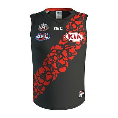 Essendon Bombers AFL 2017 ISC Anzac Day Guernsey Adults & Kids Sizes! In Stock!