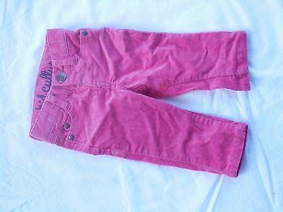 Baby Girl Size 000 0-3 Months Pumpkin Patch Pink Cord Jeans Pants