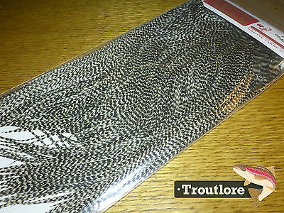 Whiting Dry Fly Saddle Grizzly Pro Grade New Fly Tying Cape Feathers