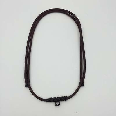 "25"" Necklace Brown  Rope 1 Hook Thai Buddha Buddhist Amulet Handmade Pendant New"