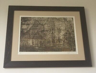 """Large Framed Original Painting (Screenprint) """"Writing on The Walls"""" 1/1."""