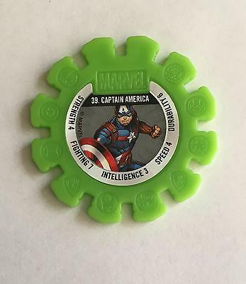 Woolworths Marvel Heroes Collectable Disc #39 Captain America $1 Combined Post