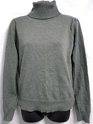 Pre-owned Grey Paper Scissors Turtle neck Top Size 12