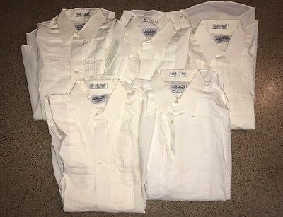 5 JOSEPH & FEISS Tuxedo 16.5 34/35 Formal TUX Dress Ivory Shirt LOT Large L