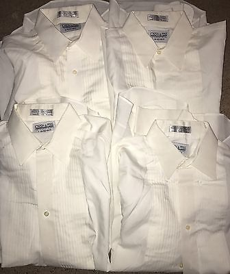 4 JOSEPH & FEISS Tuxedo 16.5 36/37 Formal TUX Dress Ivory Shirt LOT Large L 16