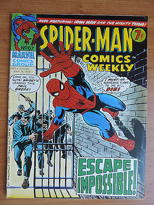 Spider-Man Comics Weekly # 67 (Vg+ 4.5) Uk Marvel