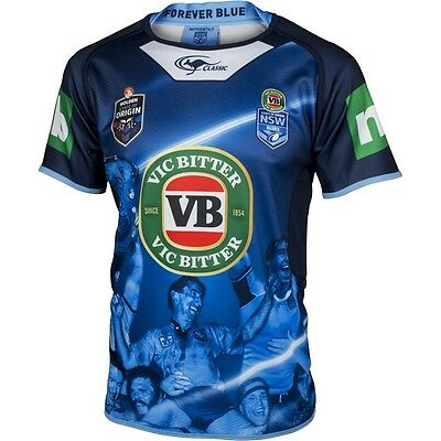 New South Wales Blues 2016 State Of Origin True Blue Captains Jersey Size S-5XL!