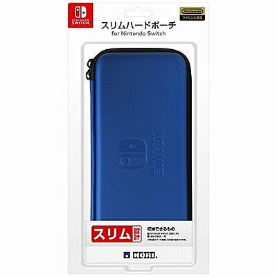 HORI NSW-008 Blue Slim Hard Pouch For Nintendo Switch From Japan