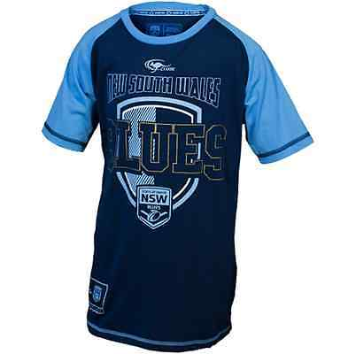 New South Wales Blues State Of Origin Supporters T Shirt Kids Size 8-14!6