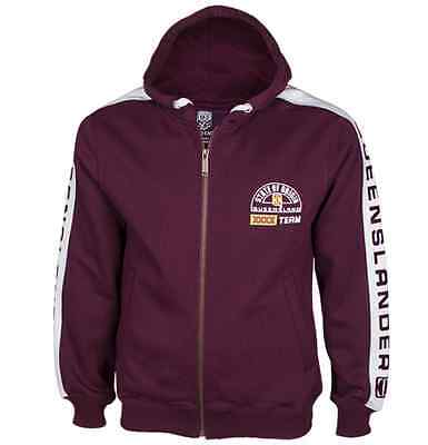 Queensland Maroons State Of Origin Classic Jacket With Hood & Pockets! QLD BNWT