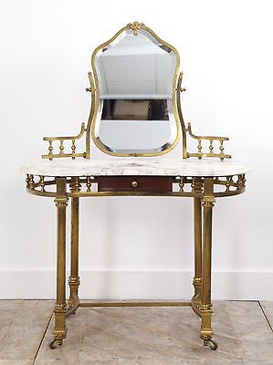 Marble and Brass Dressing Table
