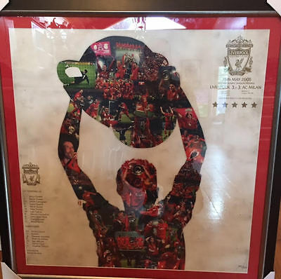 Liverpool 2005 Champions League Framed Original Limited Edition Canvas. 141/150