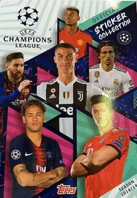 Album Figurine UEFA CHAMPIONS LEAGUE 2017/2018 Topps + SET COMPLETO STICKERS