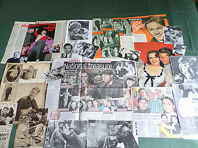 Mickey Rooney - Film Star - Clippings /cutting Pack
