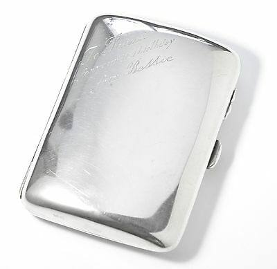 Antique Hallmarked Solid Silver Sterling Silver Card Case,chester 1958, 79.1 Gm