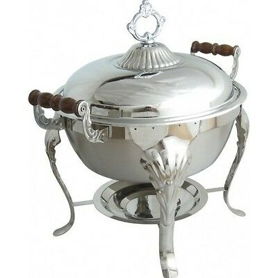 5QT Stainless Round Chafer Chafing Dish Catering Banquet Buffet Food Tray Warmer