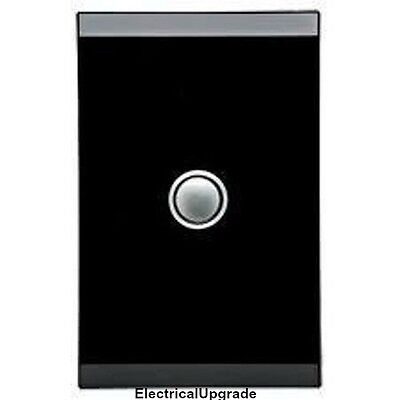 Clipsal Switches Saturn Offer 1 Gang Led Push Button 4061PBL EB (EspressoBlack )