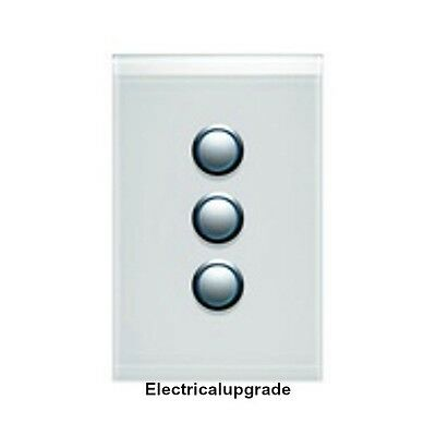 Clipsal Switches - Saturn offer 3 Gang Led Push Button 4063PBL PW (Pure White)
