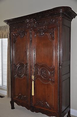 Antique Hand Carved Normandy Armoire Circa 1790--by owner