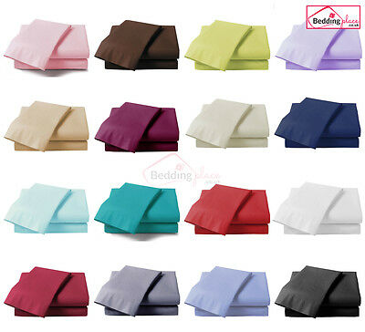*clearance Sale* Plain Dyed Fitted Sheet Single Double King Super King All Size