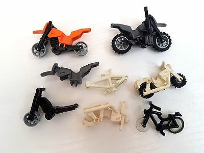 LEGO Minifigure Motorbikes And Bicycle Job Lot Parts And Complete Bikes
