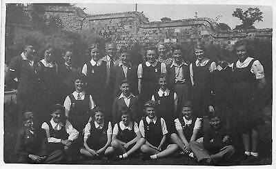 OLD REAL PHOTO POSTCARD of A SCHOOL GROUP