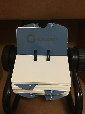 Rolodex Open Rotary Business Card File with 200 2-5/8 by 4 inch Card Slee... NEW