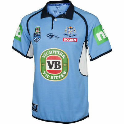 New South Wales Blues 2017 State Of Origin Classic Collar Jersey Size S-5XL!