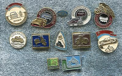 Russia USSR Motorcycles Tematic 10 Pin Badge
